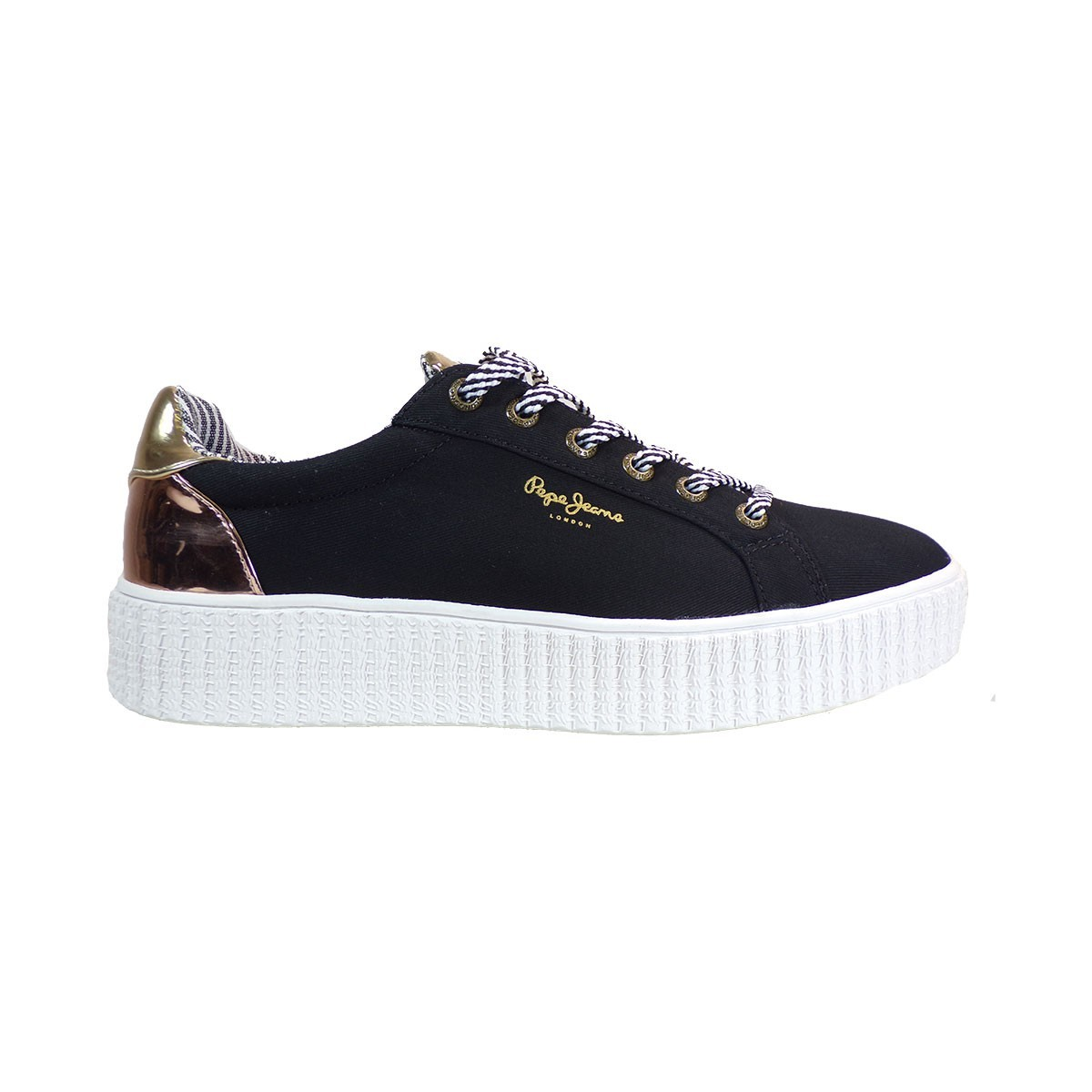 0fb4ad33d7 Pepe jeans FRIDA Sneakers Γυναικεία Παπούτσια PLS30686-999 Μαύρο –  IShoeStore
