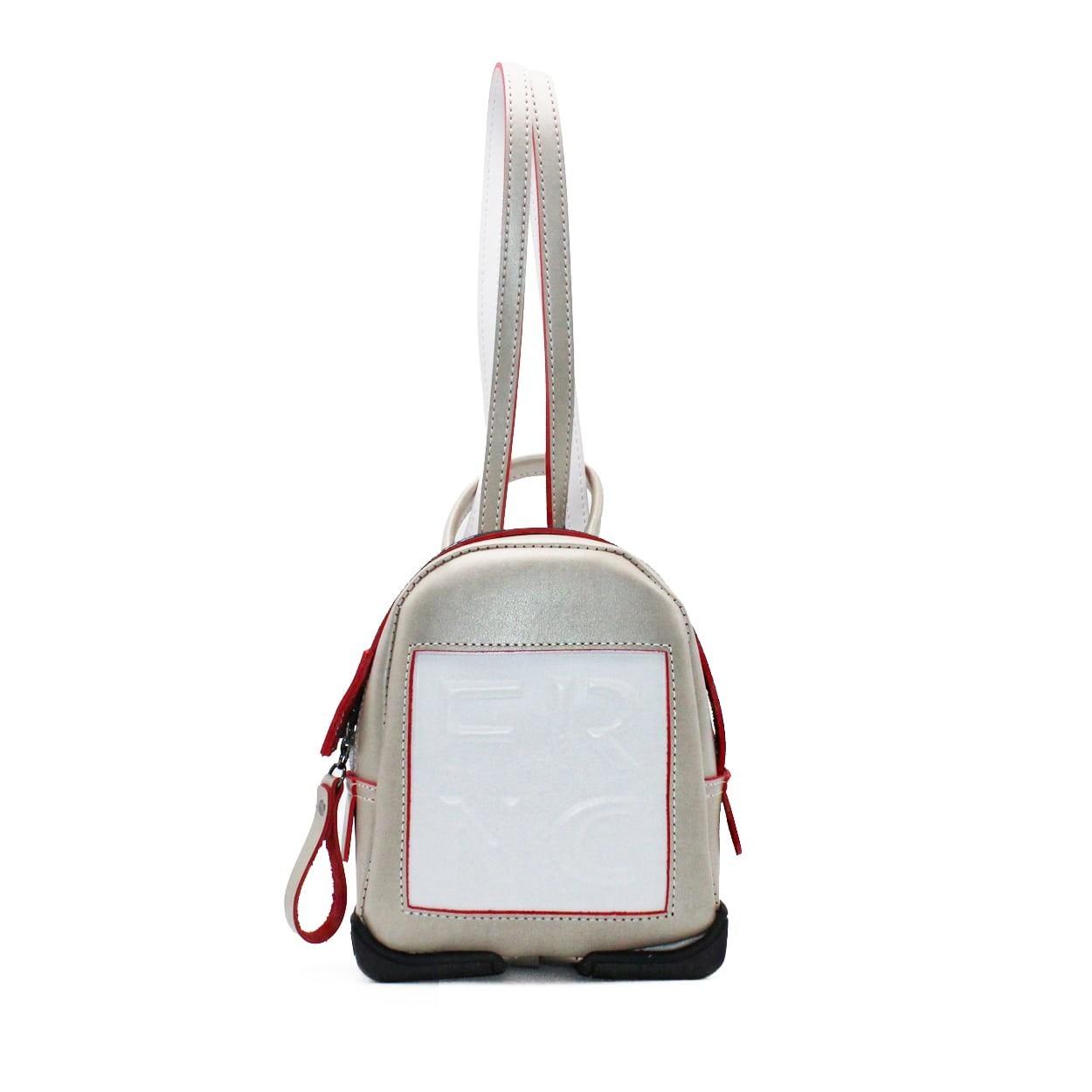 ac4573e996 FRNC FRANCESCO Τσάντα Γυναικεία Πλάτης-Backpack 2024 Πλατίνα Δέρμα ...