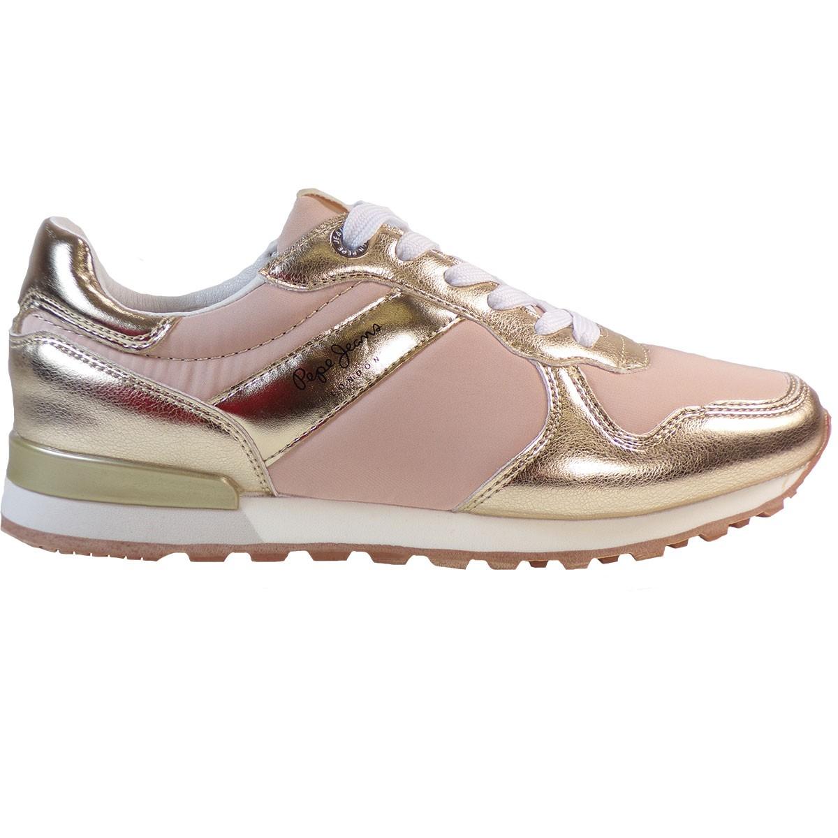 61ba46f7760 Pepe jeans VERONA Sneakers Γυναικεία Παπούτσια PLS30873-099 Ροζ-Χρυσό