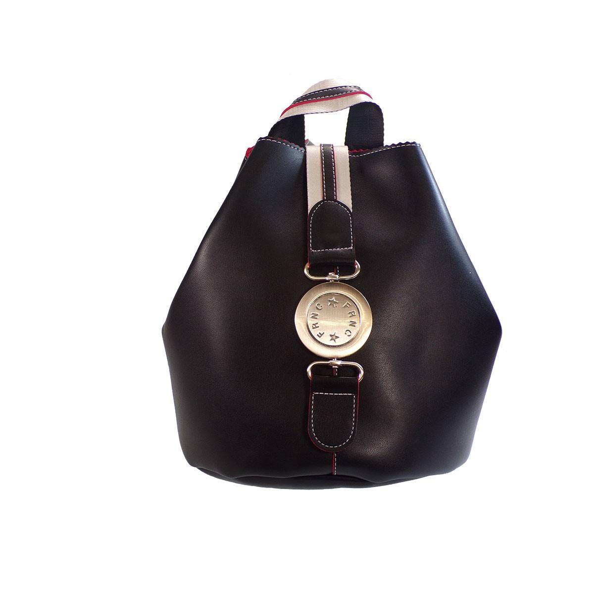 e24babd5c3 FRNC FRANCESCO Τσάντα Γυναικεία Πλάτης-Backpack 562 Μαύρο Δέρμα ...