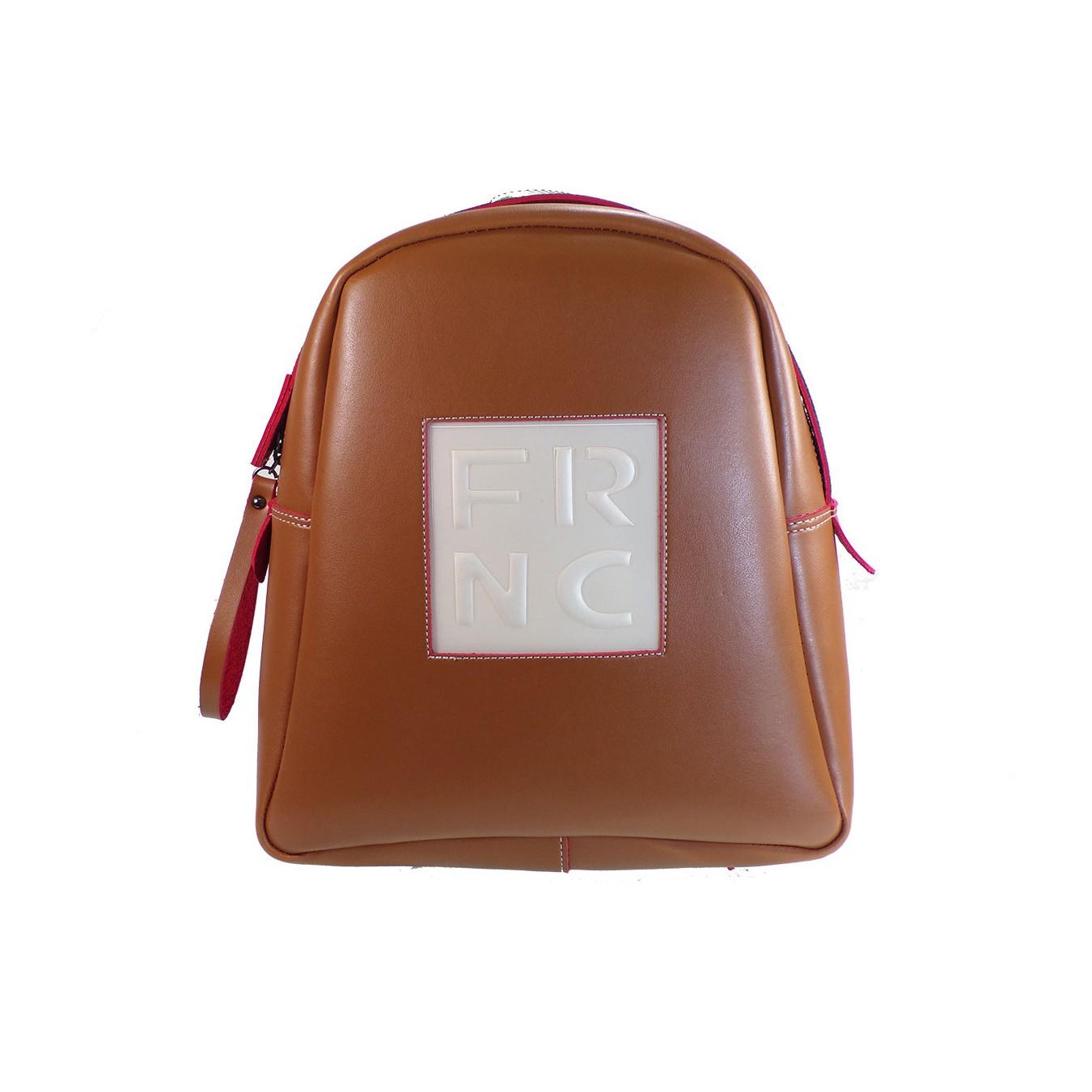 25a67fb34c FRNC FRANCESCO Τσάντα Γυναικεία Πλάτης-Backpack 1201 Ταμπά Δέρμα –  IShoeStore