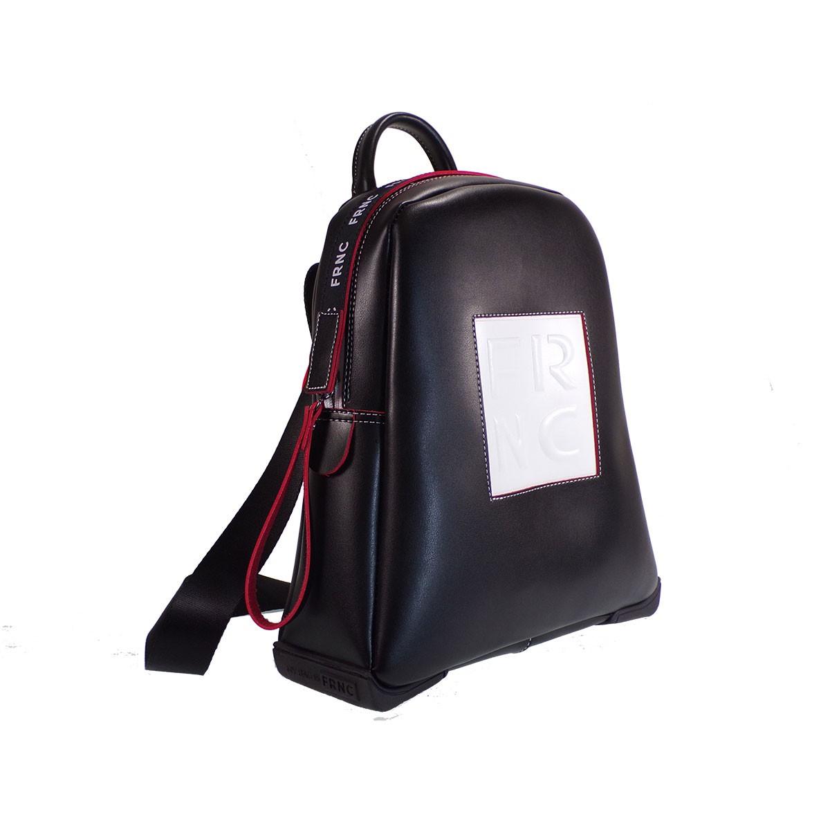 74d2638798 FRNC FRANCESCO Τσάντα Γυναικεία Πλάτης-Backpack 2023 Μαύρο Δέρμα ...