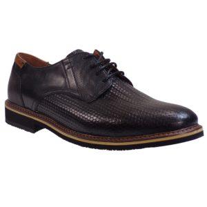a240ad2be53 kricket Ανδρικά Παπούτσια 093 Μαύρο Δέρμα Ψάθα – IShoeStore
