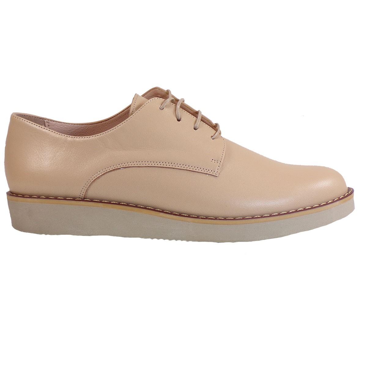 075ec5dddd Moods Shoes Oxford Παπούτσια Γυναικεία 1001 Νude Δέρμα – IShoeStore