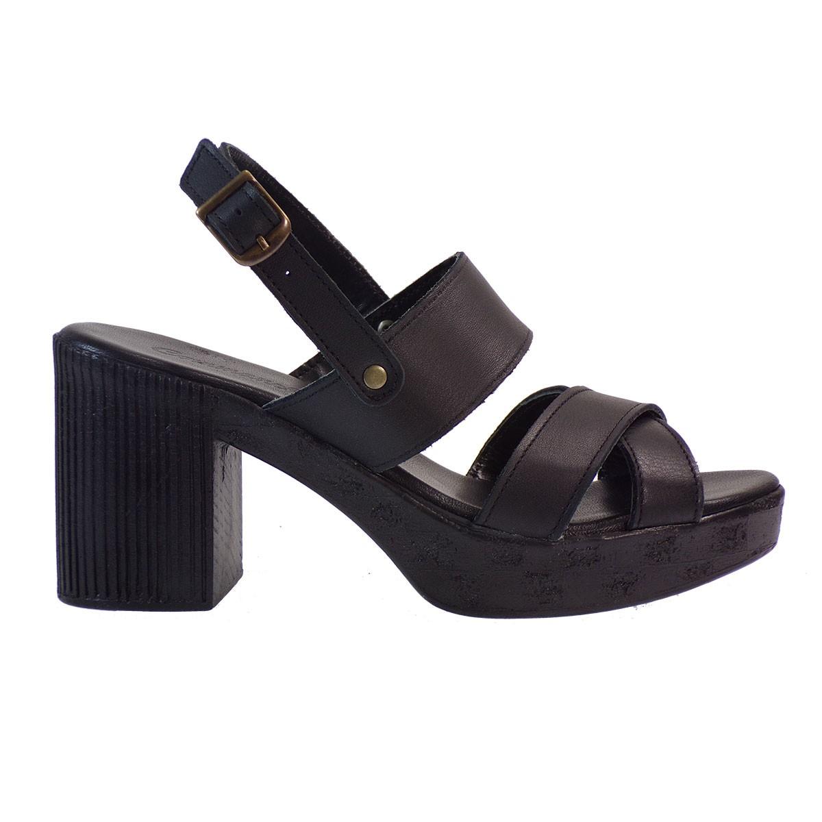c7154f7799 Commanchero Γυναικεία Πέδιλα 5484 Μαύρο Δέρμα – IShoeStore
