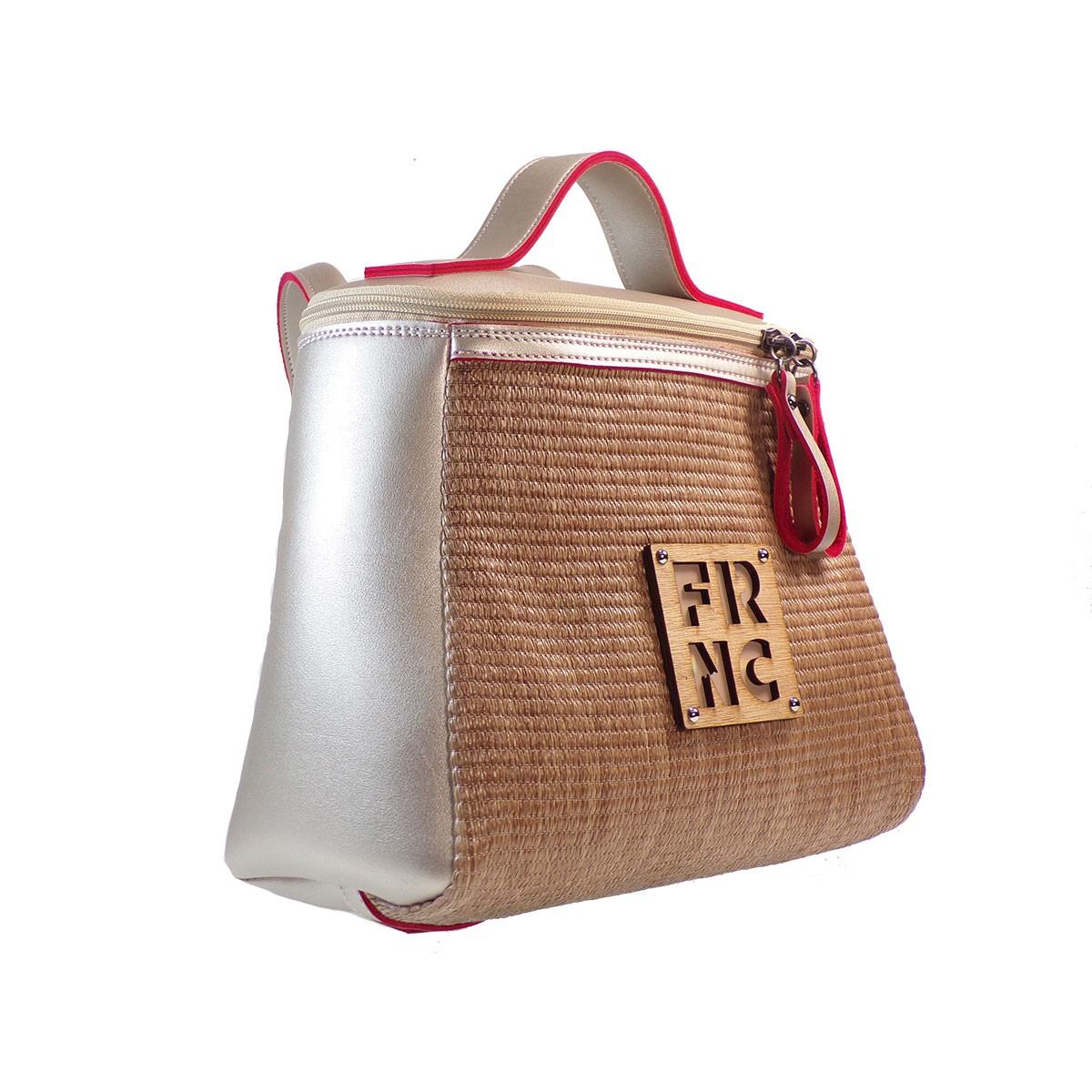 f85d254a4e FRNC FRANCESCO Τσάντα Γυναικεία Πλάτης-Backpack-Ώμου 1290 Πλατίνα ...