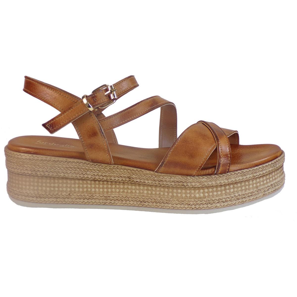 55d62d8edea Fardoulis shoes Γυναικεία Παπούτσια Πέδιλα Πλατφόρμες 63450 Ταμπά Δέρμα